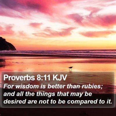 Proverbs 8:11 KJV Bible Verse Image