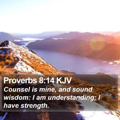 Proverbs 8:14 KJV Bible Verse Image