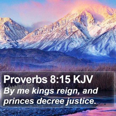 Proverbs 8:15 KJV Bible Verse Image