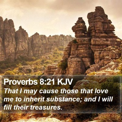 Proverbs 8:21 KJV Bible Verse Image