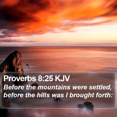 Proverbs 8:25 KJV Bible Verse Image