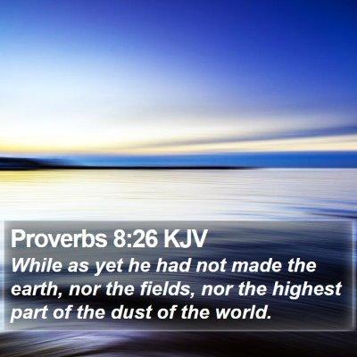 Proverbs 8:26 KJV Bible Verse Image