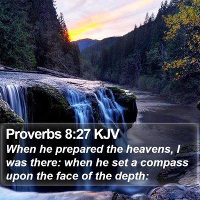 Proverbs 8:27 KJV Bible Verse Image