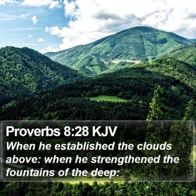 Proverbs 8:28 KJV Bible Verse Image