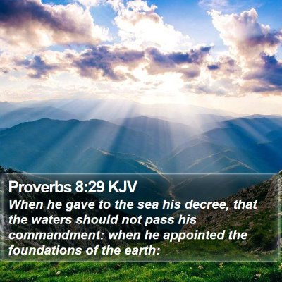Proverbs 8:29 KJV Bible Verse Image