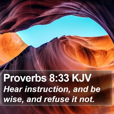 Proverbs 8:33 KJV Bible Verse Image