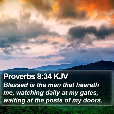 Proverbs 8:34 KJV Bible Verse Image