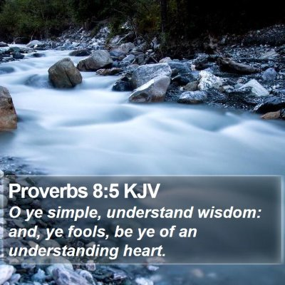 Proverbs 8:5 KJV Bible Verse Image