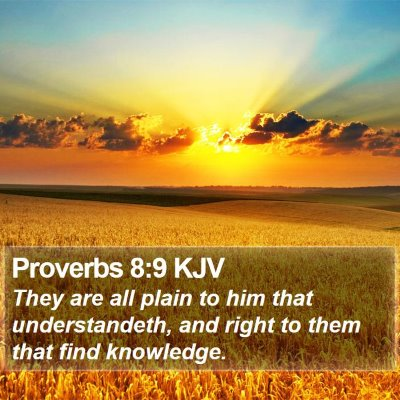 Proverbs 8:9 KJV Bible Verse Image