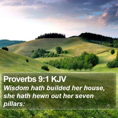Proverbs 9:1 KJV Bible Verse Image