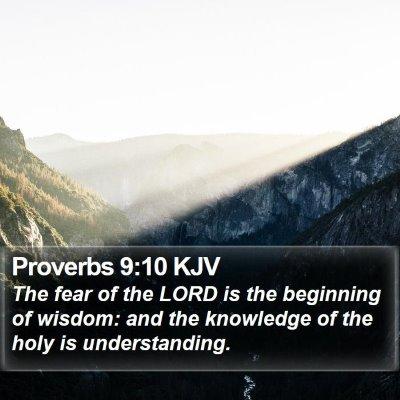 Proverbs 9:10 KJV Bible Verse Image