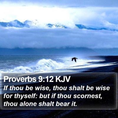 Proverbs 9:12 KJV Bible Verse Image
