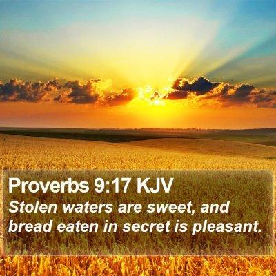 Proverbs 9:17 KJV Bible Verse Image