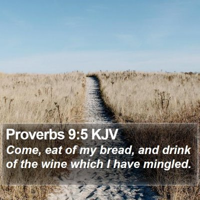 Proverbs 9:5 KJV Bible Verse Image