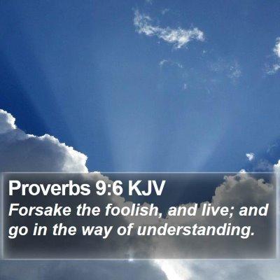 Proverbs 9:6 KJV Bible Verse Image