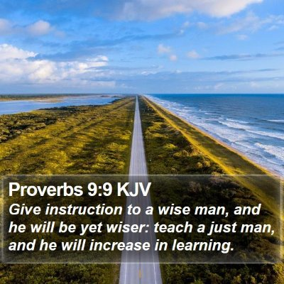 Proverbs 9:9 KJV Bible Verse Image