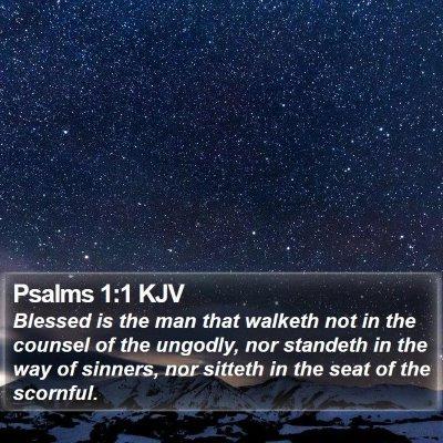 Psalms 1:1 KJV Bible Verse Image
