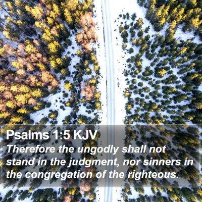 Psalms 1:5 KJV Bible Verse Image