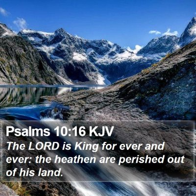 Psalms 10:16 KJV Bible Verse Image