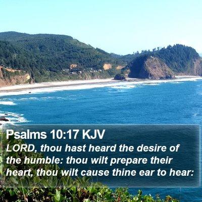 Psalms 10:17 KJV Bible Verse Image