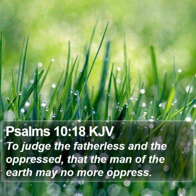 Psalms 10:18 KJV Bible Verse Image