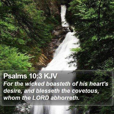 Psalms 10:3 KJV Bible Verse Image