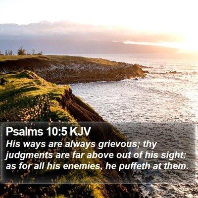 Psalms 10:5 KJV Bible Verse Image