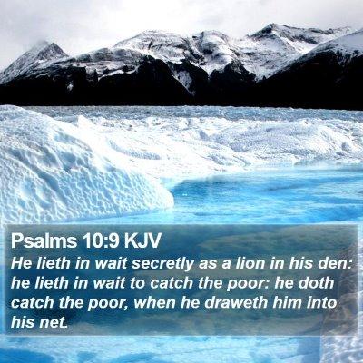 Psalms 10:9 KJV Bible Verse Image