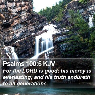 Psalms 100:5 KJV Bible Verse Image