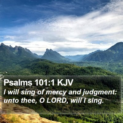 Psalms 101:1 KJV Bible Verse Image