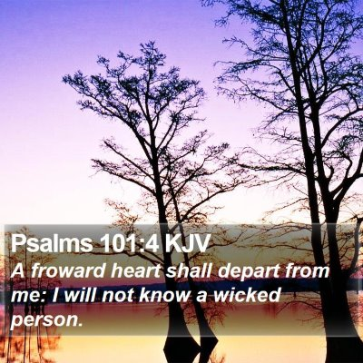 Psalms 101:4 KJV Bible Verse Image