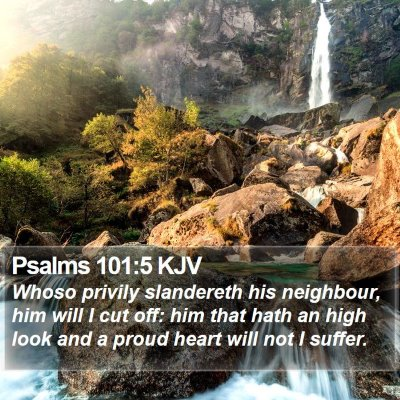 Psalms 101:5 KJV Bible Verse Image