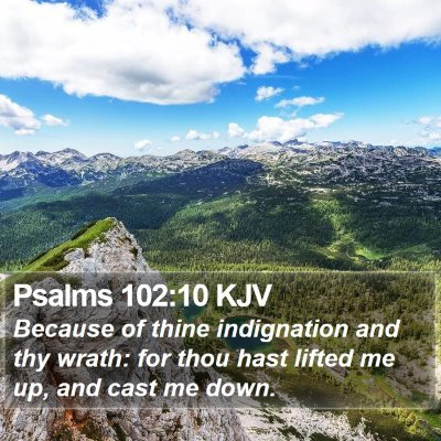 Psalms 102:10 KJV Bible Verse Image