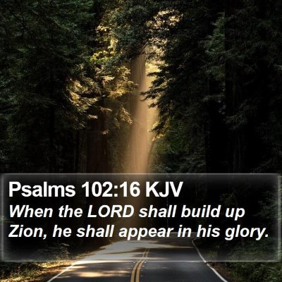 Psalms 102:16 KJV Bible Verse Image