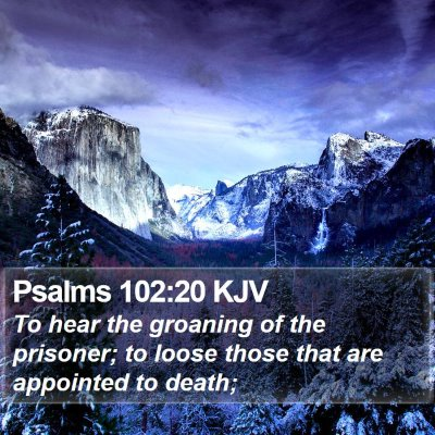 Psalms 102:20 KJV Bible Verse Image