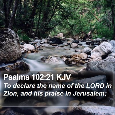 Psalms 102:21 KJV Bible Verse Image