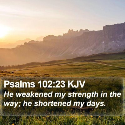 Psalms 102:23 KJV Bible Verse Image