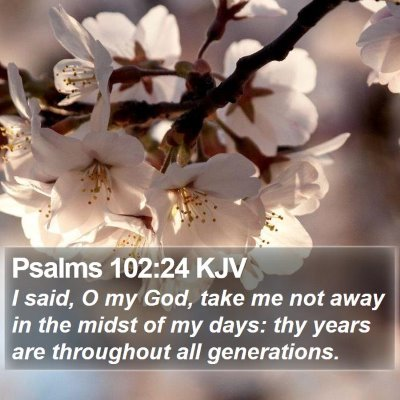 Psalms 102:24 KJV Bible Verse Image