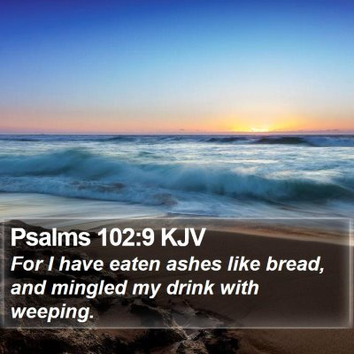 Psalms 102:9 KJV Bible Verse Image