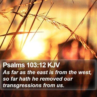 Psalms 103:12 KJV Bible Verse Image