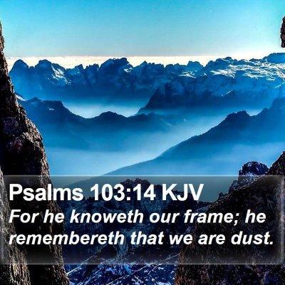 Psalms 103:14 KJV Bible Verse Image