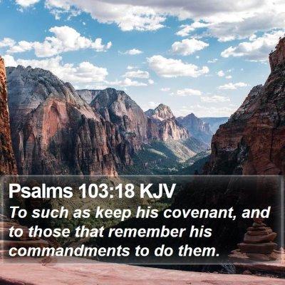 Psalms 103:18 KJV Bible Verse Image