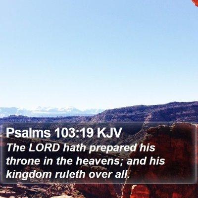 Psalms 103:19 KJV Bible Verse Image