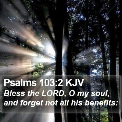 Psalms 103:2 KJV Bible Verse Image