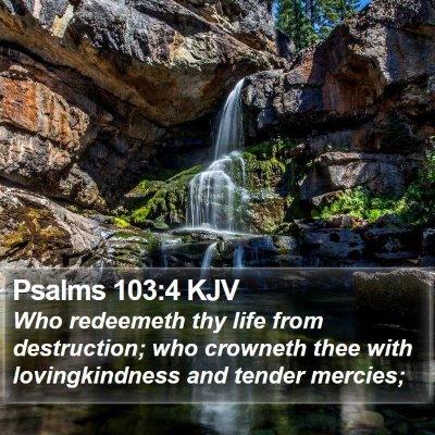 Psalms 103:4 KJV Bible Verse Image