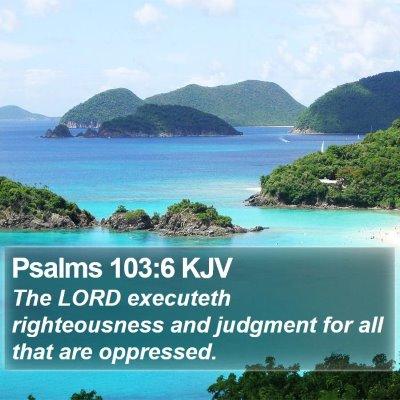 Psalms 103:6 KJV Bible Verse Image