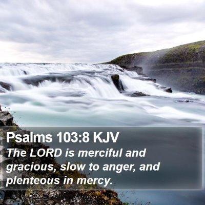 Psalms 103:8 KJV Bible Verse Image