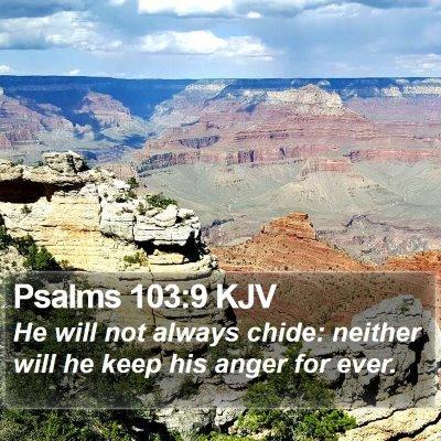 Psalms 103:9 KJV Bible Verse Image