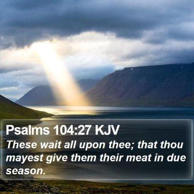 Psalms 104:27 KJV Bible Verse Image