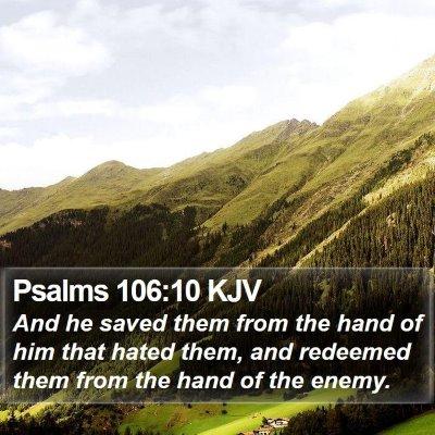 Psalms 106:10 KJV Bible Verse Image